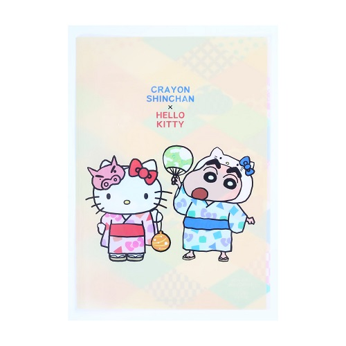HELLO KITTY×CRAYON SHINCHAN クリアファイルB RTKYFB86